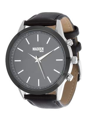 Steve Madden Men's Leather & Alloy 44mm Watch