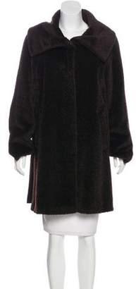 Max Mara Shearling Knee-Length Coat