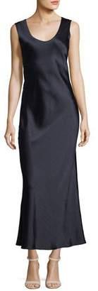 Theory Cowl-Back Sleeveless Double-Sateen Midi Dress
