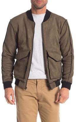 7e6126c26ad1 Mens Faux Leather Varsity Jacket - ShopStyle