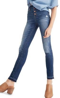 Madewell 10-Inch High Waist Drop Hem Skinny Jeans (Rose Cliff)