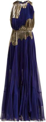 Maria Lucia Hohan Alanis metallic silk-blend gown