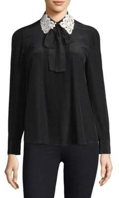 Kate Spade New York Silk Lace Blouse