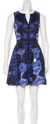 Black Halo Printed Aria Dress