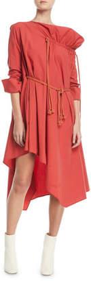 Palmer Harding palmer//harding Gallery Long-Sleeve Belted Cotton Dress