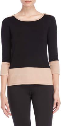 Cable & Gauge Black Color Block Sweater