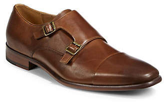 HBC PEGABO Double Monk-Strap Leather Oxfords