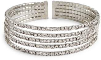 Cezanne Crystal 5-Row Cuff Bracelet