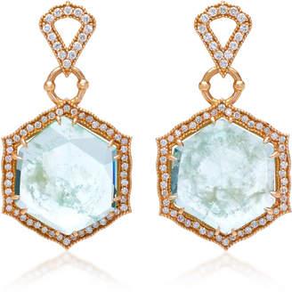 Sara Weinstock Taj 18K Gold, Emerald And Diamond Earrings