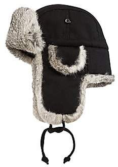 Saks Fifth Avenue Rabbit-Fur Aviator Hat