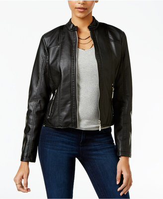 Jou Jou Perforated Faux-Leather Jacket $69.50 thestylecure.com