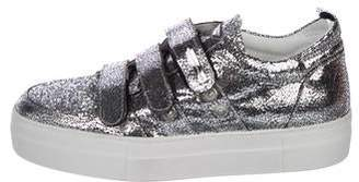 Alessandro Dell'Acqua Metallic Leather Sneakers w/ Tags