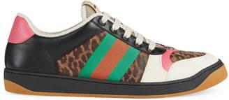 Gucci Online Exclusive Men's Screener leopard print sneaker