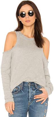 Michael Lauren Haris Open Shoulder Sweatshirt
