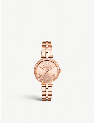 74291538622a Michael Kors MK3904 Maci rose-gold plated stainless steel and crystal  embellished watch