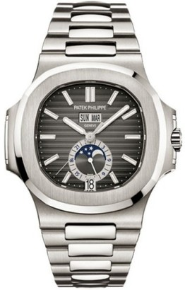 Patek Philippe Nautilus Stainless Steel 40.5mm Watch $42,599 thestylecure.com