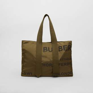 Burberry Belt Detail Horseferry Print Nylon Tote