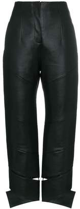 Matériel High-Waisted Faux Leather Trousers