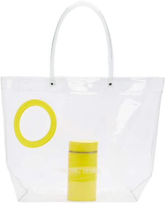 Building Block SSENSE Exclusive Yellow Transparent Vinyl Peephole Tote