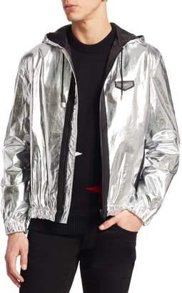 Givenchy Men's Metallic Hood Jacket