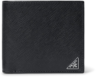 Prada Cross-Grain Leather Billfold Wallet $320 thestylecure.com