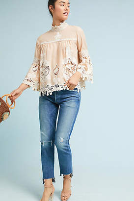 Anna Sui Lace Peasant Top