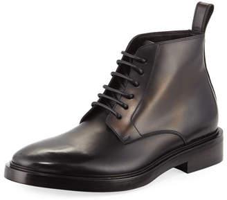 Balenciaga Veau Leather Lace-Up Boot