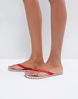 Jack Wills Stripe Flip Flop