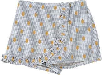 Hannah Banana Houndstooth & Polka-Dot Wrap Skort, Size 7-14
