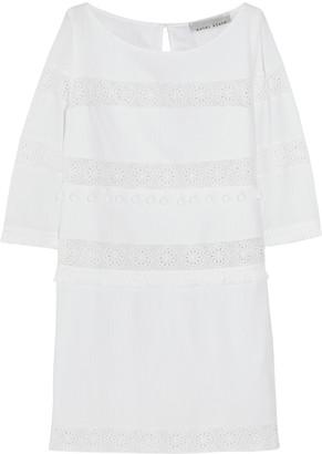 Heidi Klein Crochet-trimmed cotton-crepon mini dress $390 thestylecure.com