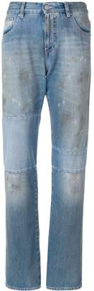 MM6 MAISON MARGIELA distressed panel jeans