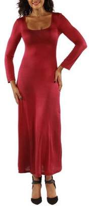 24/7 Comfort Apparel Women's Like a Cool Drink of Water Black Maxi Dress