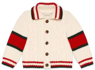 Gucci Baby cable knit wool cardigan