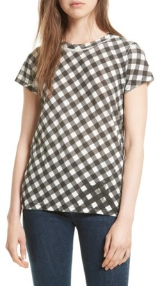 Women's Rag & Bone Gingham Tee $115 thestylecure.com