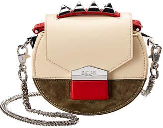 Salar Milano Carol Suede & Leather Shoulder Bag