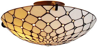 Tiffany & Co. AMORA Amora Lighting AM030CL17 Style Ceiling Fixture Lamp 17 In Wide
