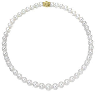 "Assael Akoya 16"" Akoya Cultured Graduated 6.5-9.5mm Pearl Necklace with Yellow Gold Clasp"