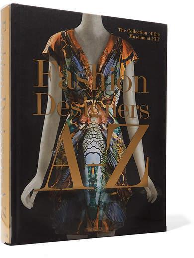 Fashion Designers A-z Hardcover Book - Black