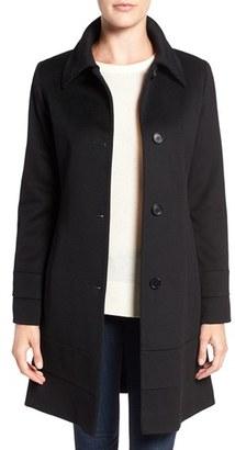 Petite Women's Fleurette Fit & Flare Wool Coat $1,049 thestylecure.com