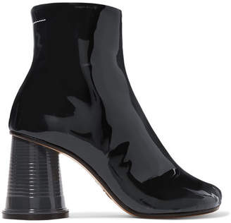 MM6 MAISON MARGIELA Patent-leather Ankle Boots - Black