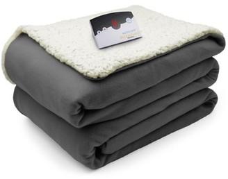 Biddeford Blankets Biddeford Comfort Knit Sherpa Electric Heated Blanket