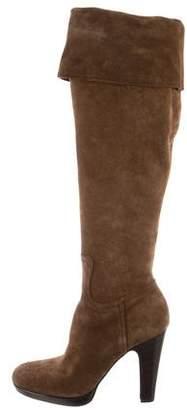 Miu Miu Suede Knee-Length Boots