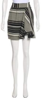 Marissa Webb Striped Mini Skirt