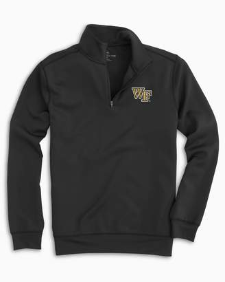 Southern Tide Gameday Performance 1/4 Zip Pullover - Wake Forest University