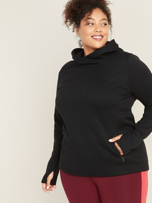Old Navy Go-Warm Plus-Size Fleece-Knit Pullover Hoodie