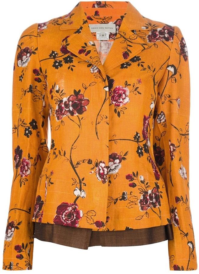 Dries Van Noten floral print blazer
