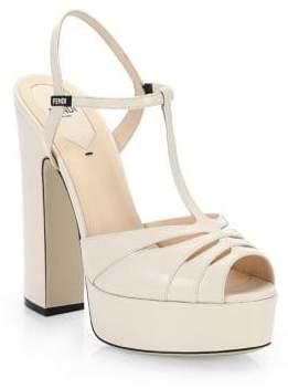 Fendi Duo Platform Sandals