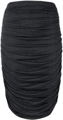 Norma Kamali ruched jersey skirt
