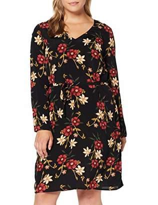 Junarose Women's Jrmalenakeenan Ls Above Knee Dress - K Black AOP: Flowers, (Size: 50)