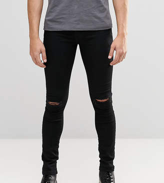 Hunter Brooklyn Supply Co. Brooklyn Supply Co Black Spray On Denim Jeans With Knee Slit
